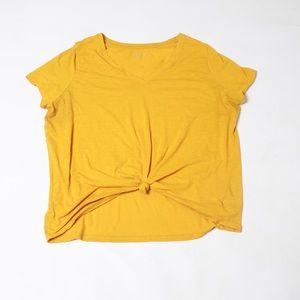 Ava & viv light weight yellow v neck